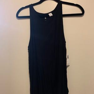Black dressy muscle shirt
